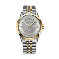 Raymond_Weil_Freelancer_Men's_Two_Tone_Bracelet_Watch,_Silver_Dial_
