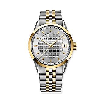 Raymond Weil Freelancer Men's Two Tone Bracelet Watch, Silver Dial
