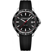 Raymond_Weil_Tango_300_Stainless_Steel_Black_Dial_and_Strap_Men's_Watch_with_Date