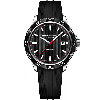 Raymond Weil Tango 300 Stainless Steel Black Dial and Strap Men's Watch with Date