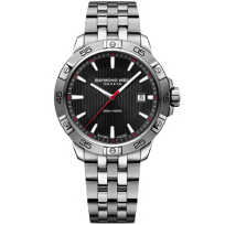 Raymond_Weil_Tango_300_Stainless_Steel_and_Black_Dial_Men's_Watch_with_Date