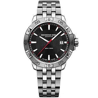 Raymond Weil Tango 300 Stainless Steel and Black Dial Men's Watch with Date