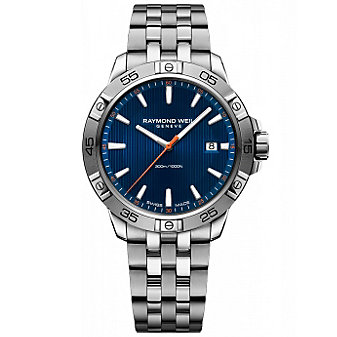 Raymond Weil Tango 300 Stainless Steel and Blue Dial Men's Watch with Date