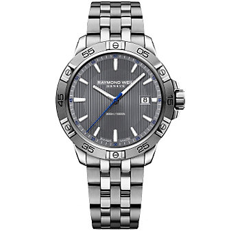 Raymond Weil Tango 300 Stainless Steel and Grey Dial Men's Watch with Date