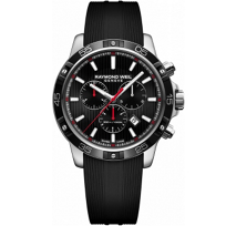 Raymond_Weil_Tango_300_Chronograph_Stainless_Steel_Black_Dial_and_Strap_Men's_Watch