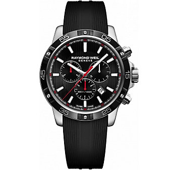 Raymond Weil Tango 300 Chronograph Stainless Steel Black Dial and Strap Men's Watch