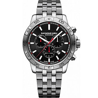 Raymond Weil Tango 300 Chronograph Stainless Steel and Black Dial Men's Watch