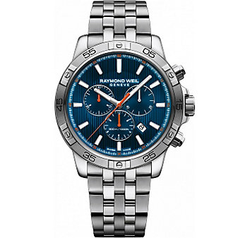 Raymond Weil Tango 300 Chronograph Stainless Steel and Blue Dial Men's Watch