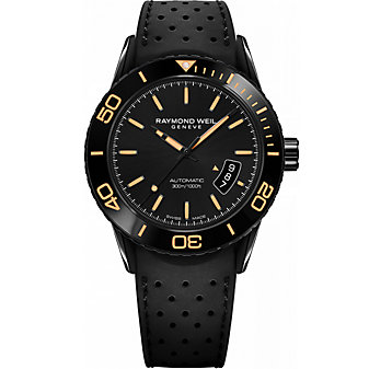 Raymond Weil Freelancer Automatic Date Orange Index Watch
