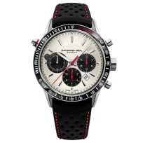 Raymond_Weil_Freelancer_Automatic_Chronograph_Steel_on_Black_Leather_with_Red_Detail_Men's_Watch