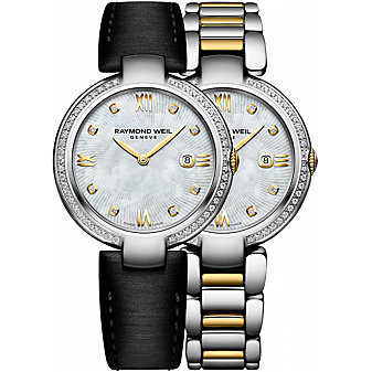 Raymond Weil Shine Two-Tone & Diamond Women's Watch with Interchangeable Bracelets