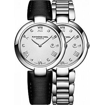 Raymond Weil Shine Steel & Diamond Dial Women's Watch with Interchangeable Bracelets