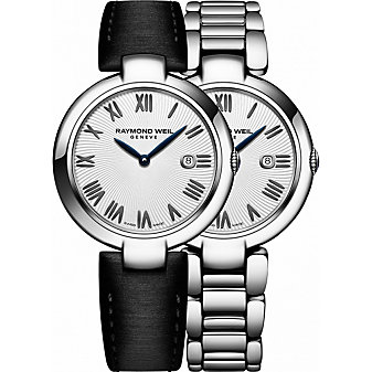 Raymond Weil Shine Black Roman Women's Watch with Interchangeable Bracelets