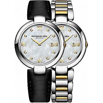 Raymond Weil Shine Two-Tone Stainless Steel Women's Watch with Interchangeable Bracelets