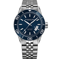 raymond_weil_freelancer_42.5mm_men's_watch,_steel_on_steel,_blue_dial