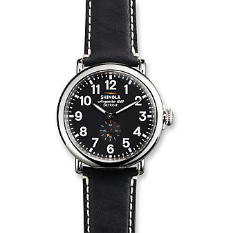 Shinola Runwell 41mm Watch, Black Dial with Black Strap