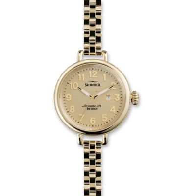 Shinola The Birdy Women's Watch 34mm, Bracelet with Gold Tone Case and Dial