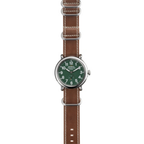 Shinola_Runwell_41mm,_Men's_Strap_Watch,_Green_Dial_with_Cordovan_Strap