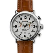 Shinola_Runwell_Chronograph_47mm_Men's_Strap_Watch,_White_Dial_with_Brown_Alligator_Strap_