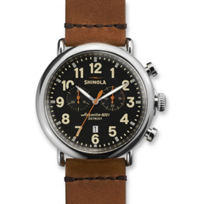 Shinola_Runwell_Chronograph_47mm_Men's_Strap_Watch,_Black_Dial_with_Brown_Strap_