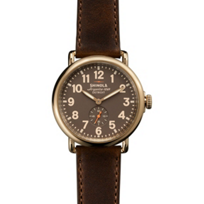 Shinola_Runwell_41mm_Men's_Strap_Watch,_Gray_Dial_with_Gold_Case