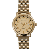 Shinola_Runwell_41mm_Men's_Watch,_Gold-Tone