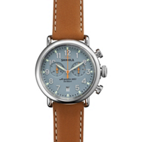 Shinola_Runwell_Chrono_41mm_Men's_Watch,_Blue_Dial_with_Natural_Strap