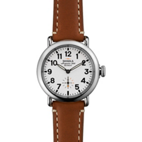 Shinola_Runwell_36mm_Men's_Watch,_White_Dial_with_Brown_Strap