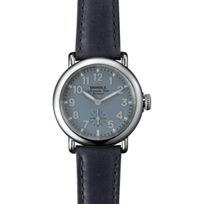 Shinola_Runwell_36mm_Men's_Watch,_Blue_Dial_and_Strap