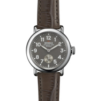 Shinola_Runwell_36mm_Men's_Watch,_Gray_Dial_and_Strap