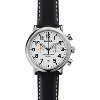 Shinola_Runwell_Chronograph_41mm_Men's_Strap_Watch,_White_Dial