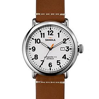 Shinola Stainless Steel Runwell 47mm White Dial Watch
