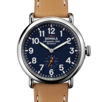 Shinola Stainless Steel Runwell Blue Dial 41mm Watch