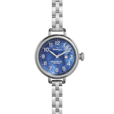 Shinola Birdy 34mm Navy Mother-of-Pearl Dial Watch