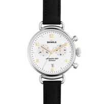 shinola_canfield_women's_watch_38mm,_black_strap_with_white_dial_