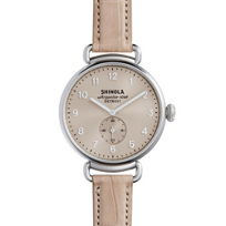 shinola_canfield_women's_watch_38mm,_nude_pink_strap_with_nude_dial