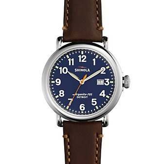 Shinola Runwell Blue Dial Men's Watch with Date