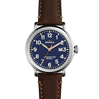 Shinola Runwell Blue Dial Men's Watch with Date