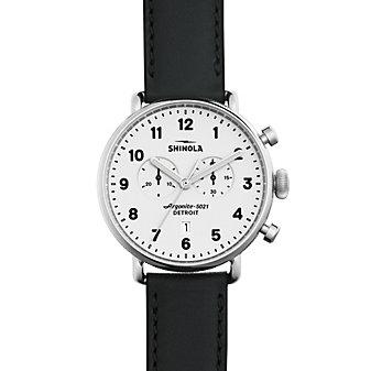 Shinola Canfield Chrono White Dial Men's Watch