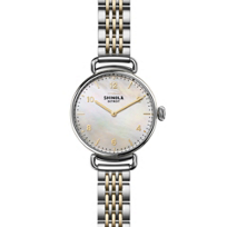 shinola_canfield_women's_watch_32mm,_stainless_steel_bracelet_with_mother-of-pearl_dial