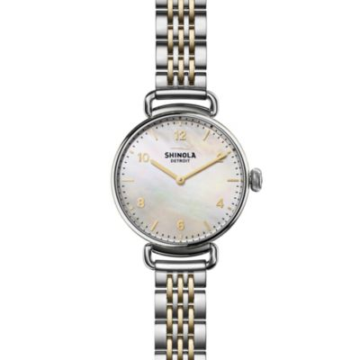 Shinola Canfield 32mm Two-Tone Mother Of Pearl Watch