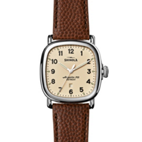 Shinola_Guardian_41.5mm_Men's_Watch,_Cream_Dial_With_Brown_Strap