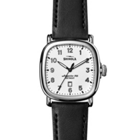 Shinola_Guardian_41.5mm_Men's_Watch,_White_Dial_with_Black_Strap