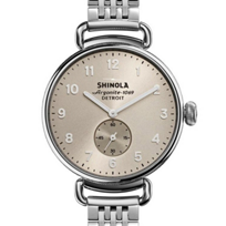 shinola_canfield_women's_watch_38mm,_stainless_steel_bracelet_with_nude_dial