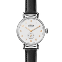 shinola_canfield_women's_watch_38mm,_black_strap_with_diamond_bezel_and_white_dial