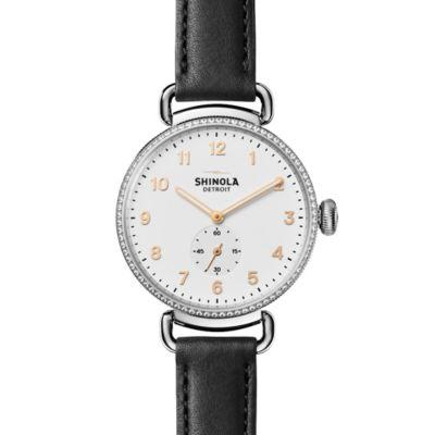 Shinola Canfield with Diamonds 38mm Women's Watch, White Dial