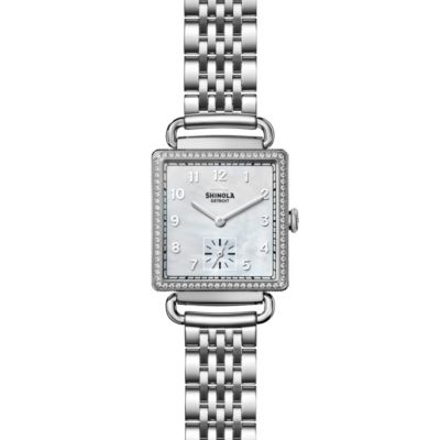 Shinola Cass with Dimaonds 28mm Women's Watch, Mother of Pearl Dial
