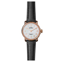 shinola_runwell_women's_watch_28mm,_black_strap_with_rose_tone_bezel_and_mother-of-pearl_dial
