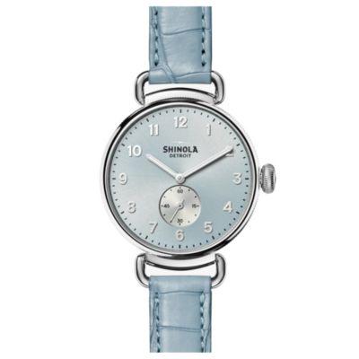 Shinola Canfield Slate Blue Sandblast Sunray 38MM Watch