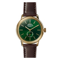 shinola_bedrock_men's_42mm_watch,_green_bezel_with_brown_leather_strap
